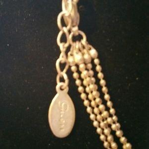 Pretty silver tone pendant silver tone chain